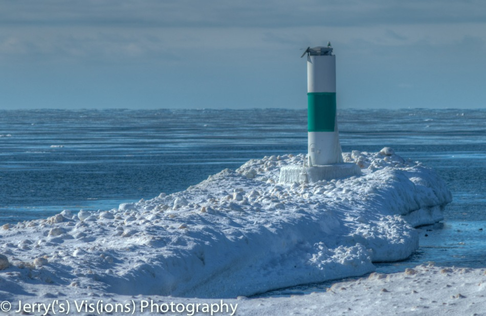 The north breakwater at Grand Haven
