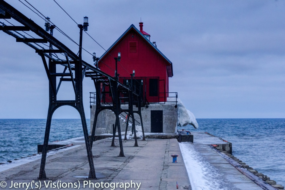 The lighthouse at Grand Haven, Michigan