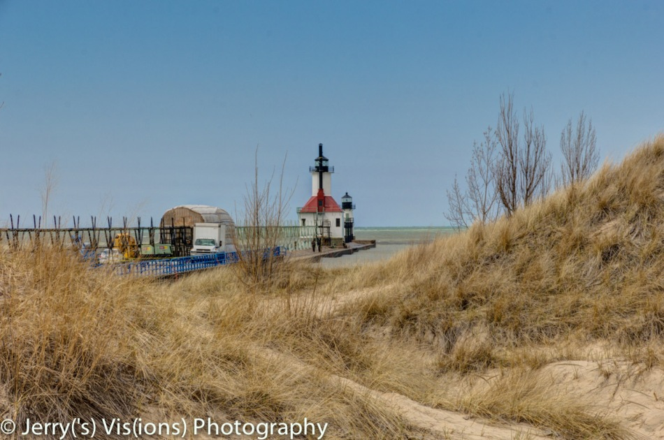 The lighthouse at Benton Harbor and St. Joseph, Michigan