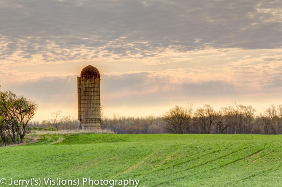 Lone silo at dawn 2