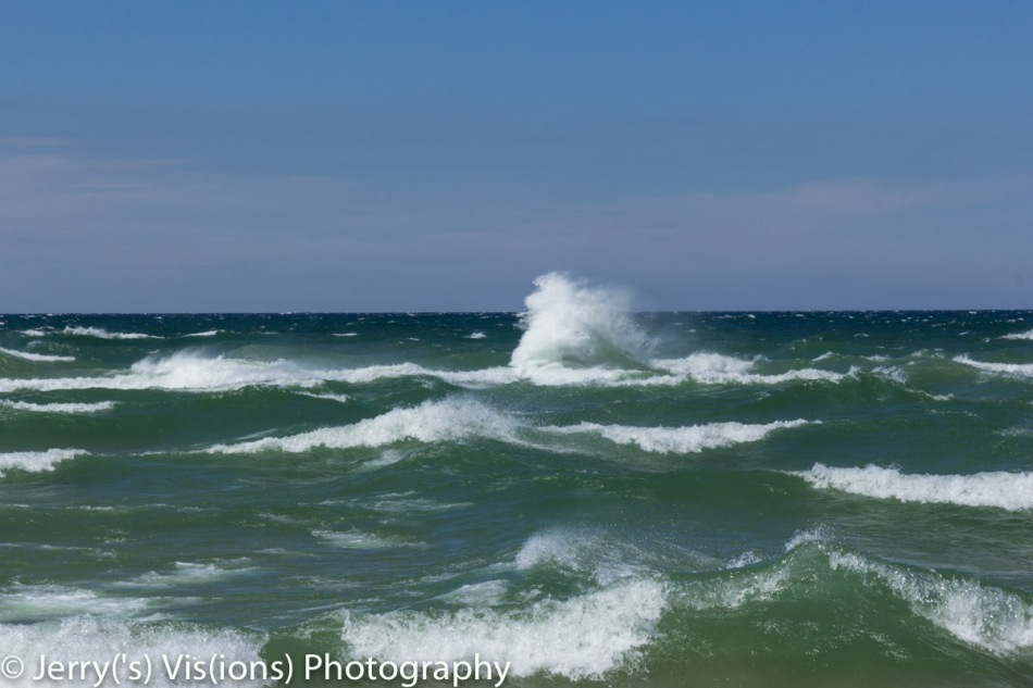 Lake Michigan on a windy day