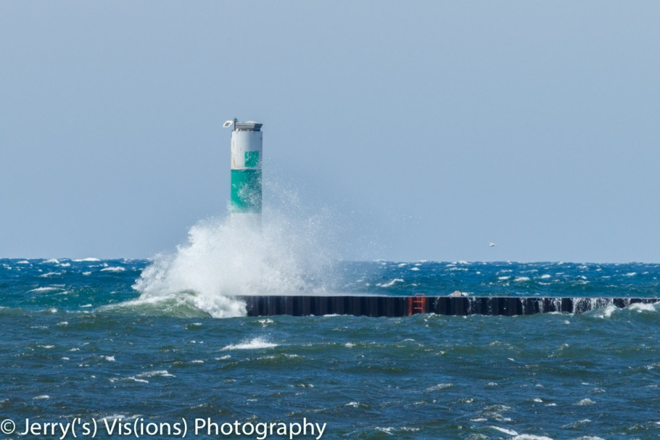 Lake Michigan wave action at Muskegon