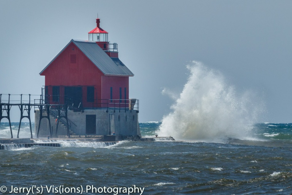 The lighthouse at Grand Haven, Michigan 2
